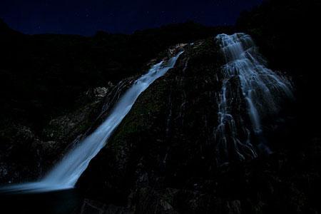 25)満月の夜、大川(おおこ)の滝
